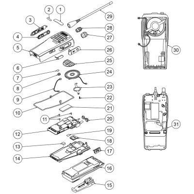 Motorola DP1400 Explosionszeichnung