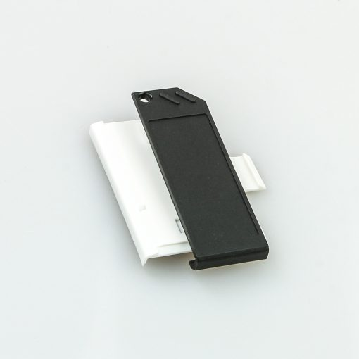 Swissphone Quattro Ersatz-Gehäuse – Weiß - Akkudeckel mit Clip